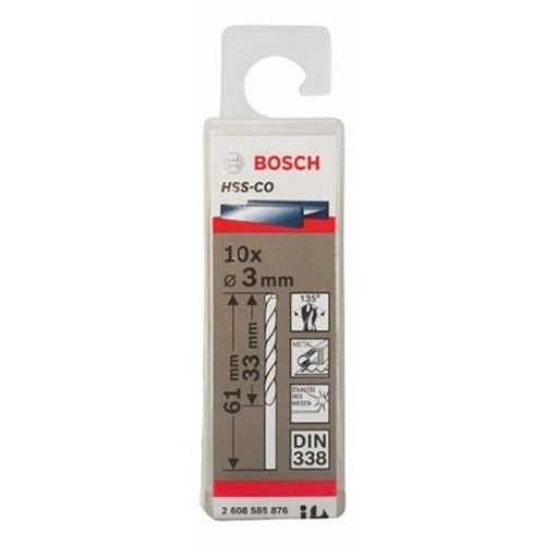 Mũi khoan INOX HSS-Co Bosch 2608585876 3mm