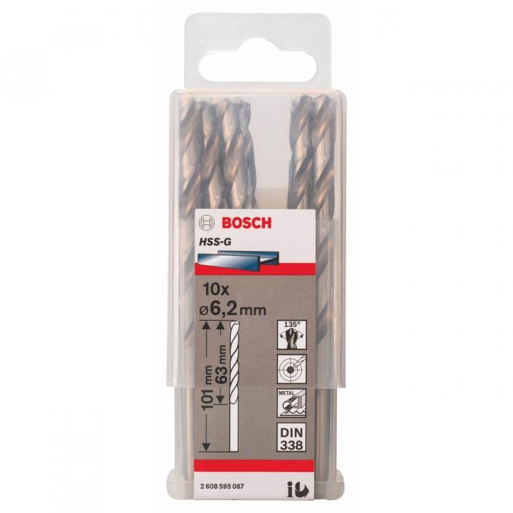 Mũi khoan kim loại Bosch 2608595062 (Ø5x52x86mm)